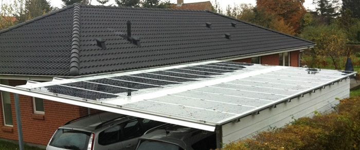Carport Med Solcelle Tag Danish Solar Energy Ltd