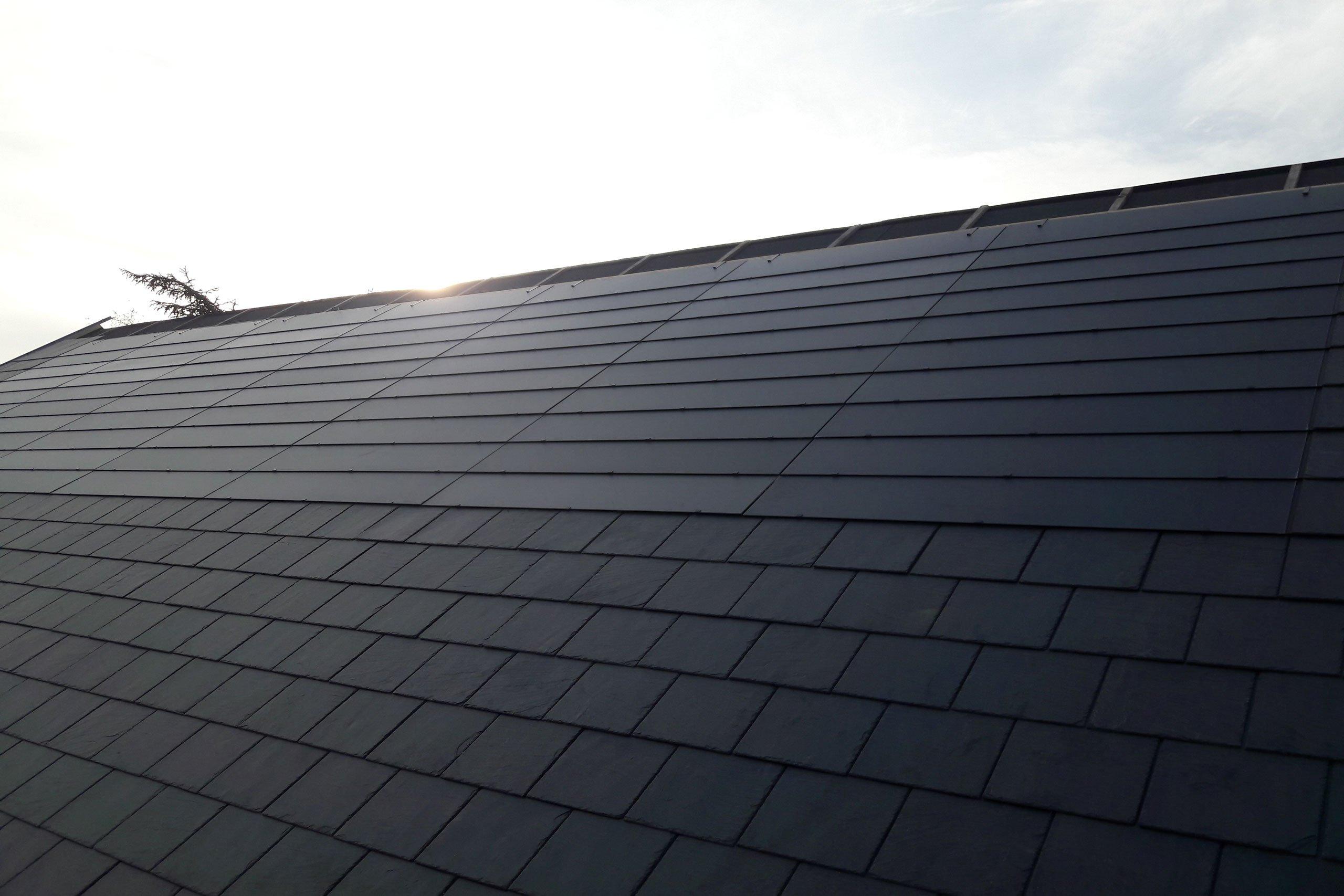 Solar slate roof