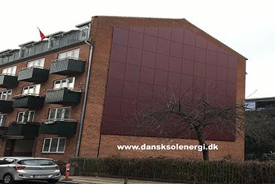 Colored solar facade